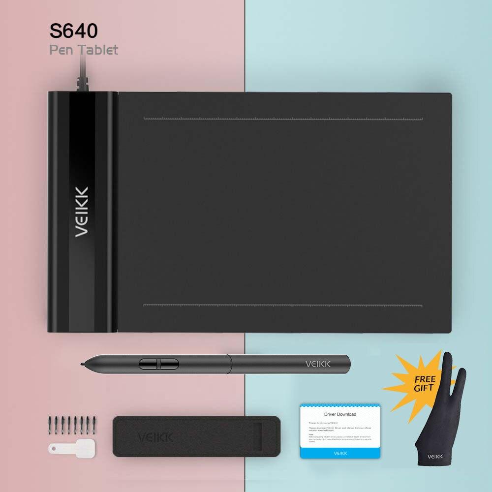 Графический планшет VEIKK S640 6X4 дюймов с бесплатной ручкой цифровой планшет онлайн обучение и обучение для начинающих детей
