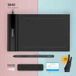 VEIKK S640 Tablet graficzny do rysowania 6X4 Cal z darmowy długopis cyfrowy Tablet nauczanie i nauka Online dla początkujących dzieci