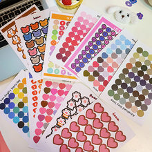 60Pcs/Lot Cute Korea Style Ins Bread Smile Flower Number Digit Sticker DIY Scrapbooking Album Diary Planner Decoration Stickers(China)