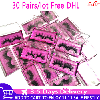 Wholesale 30 pairs/lot 5D Mink Lashes 25mm Handmade Dramatic 10 Styles 3D