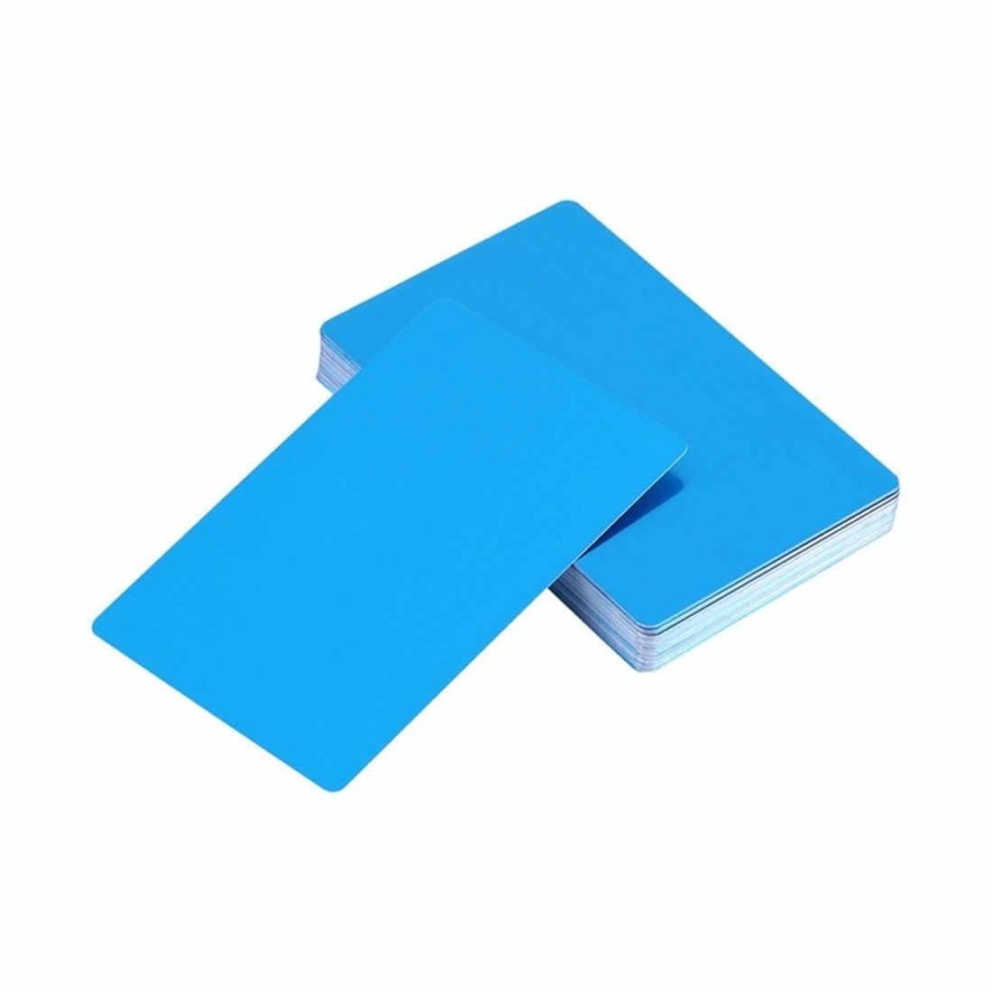 100 個名刺スムーズ空白の名刺カードアルミ合金シートデバッグレーザー刻印マーキングマシンテストカード