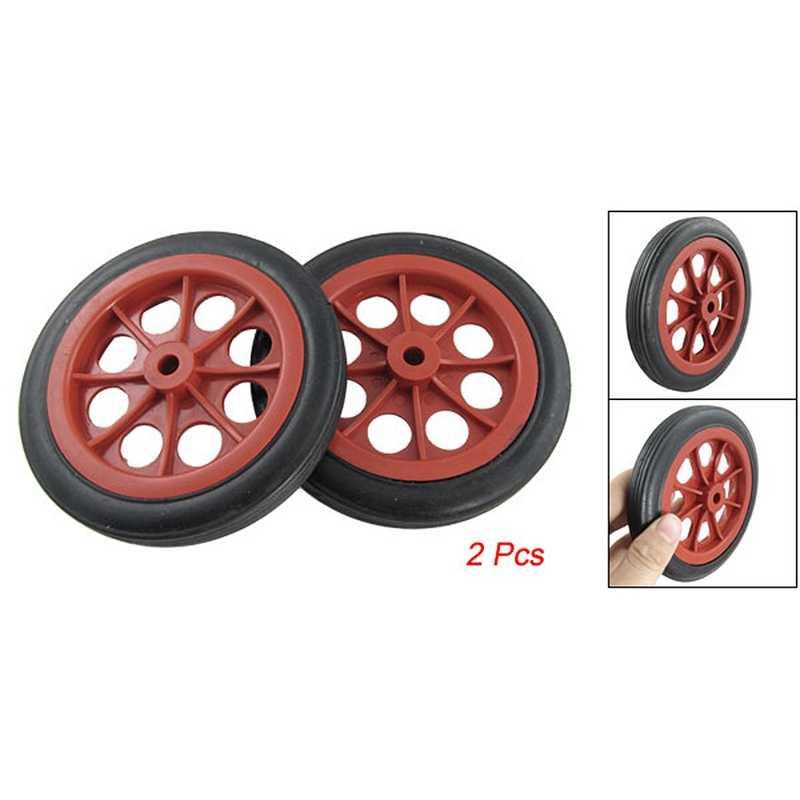 Noblik 2 x Ruedas 4.4 para Cesta Carro de Compras Reemplazable Rojo Negro