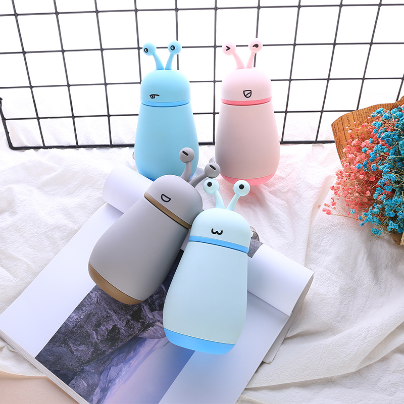 Animal Snail Rope Holding Insulated Stainless Steel Bottle Creative Cute Cartoon Children Students Glass Gift Customization Soft|Sports Bottles| |  - title=