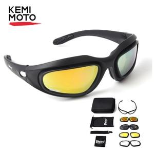 KEMiMOTO Motorcycle Glasses Po