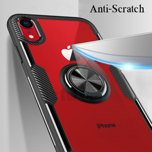 Capa for Iphone XS Max Case Magnetic Car Holder Metal Finger Ring Capa for Iphone XS XR 6 6S 7 8 Plus X Armor Back Case Cover quicksand capinha case for iphone 7 8 6s plus makeup cosmetics dynamic liquid hard back cover for iphone x xr xs max capa ipone