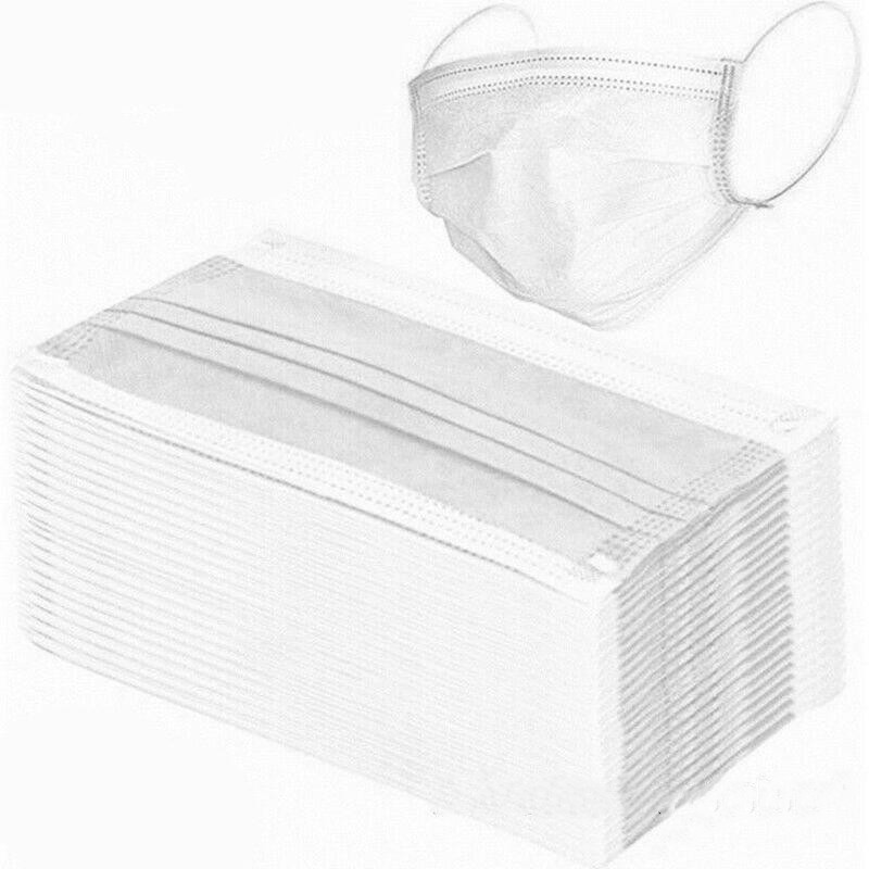 Mask 50/10pcs Disposable Prevent Flu Infection 3-layer Filter Mask Protection Antibacterial And Disposable Masks.