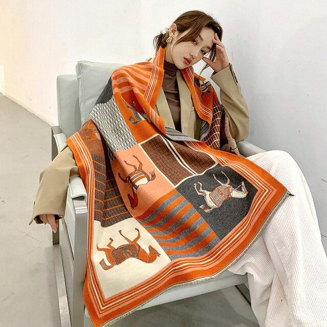 VeryYu Animal Print Cashmere Scarf Fashion  VerYYu
