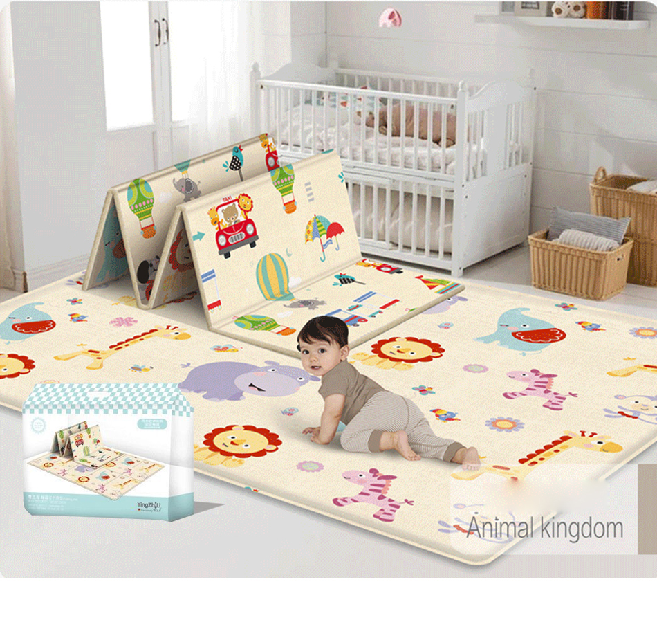 180*100*1cm Foldable Cartoon Baby Play Mat EVA Puzzle Children's Mat For Climbing Pad Kids Rug Baby Games Developing Mat