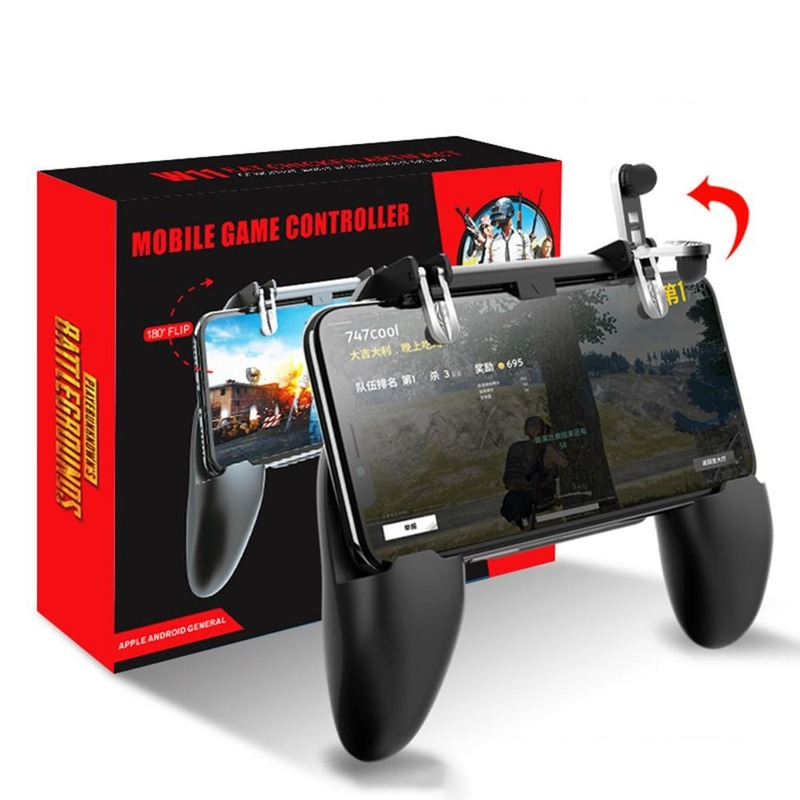 All-in-One Mobile Game Controller Fortnited Free Fire PUGB PUBG Mobile Joystick Gamepad Metal L1 R1 Button for iPhone Gaming Pad