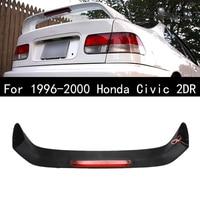 Car Rear Trunk Spoiler Wing LED Brake Light For 1996 2000 Honda Civic 2DR Primered Black Spoilers Lamp Accessories Car Styling