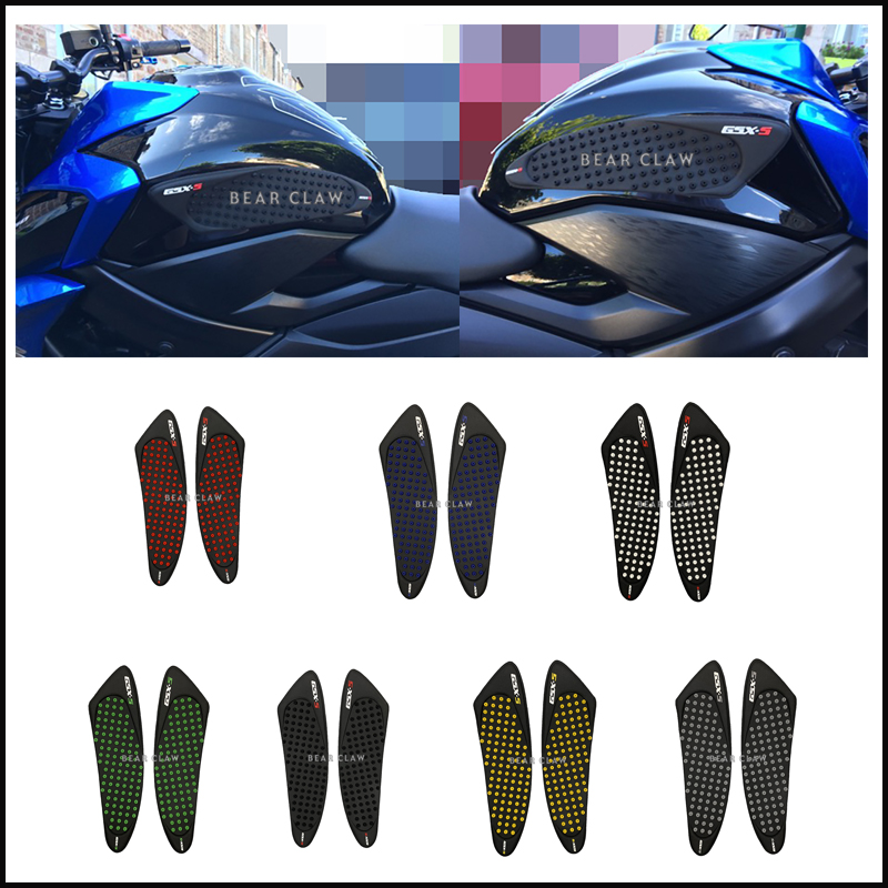 Tank Traction Pad Side Gas Knee Grip Protector For SUZUKI GSX-S1000//S1000F