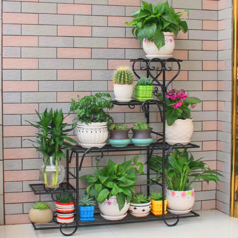 Floral Multi-storey Indoor Specials Home Balcony Racks Wrought Iron Fleshy Living Room Space-saving Flower Pots Floor-to-floor
