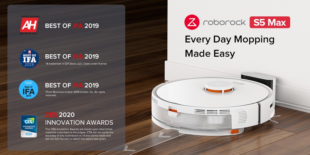 H5c18000a81254600a9a0ccd0bccdf997Y 2020 New Arrival Roborock S5 Max Robot Vacuum Cleaner Xiaomi Mijia S5max cordless for home upgrade of S50 S55 collect pet hairs