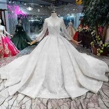 AIJINGYU 2021 nuovo Su Misura cina abiti da sposa a buon mercato abito da sposa semplice sexy della ragazza delle donne di abiti da sposa abito TS105