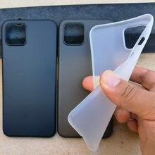 Ultrafinos pp 0.4mm fosco caso para google pixel 4 xl magro super fino ultra fino plástico capa protetora para pixel4 xl