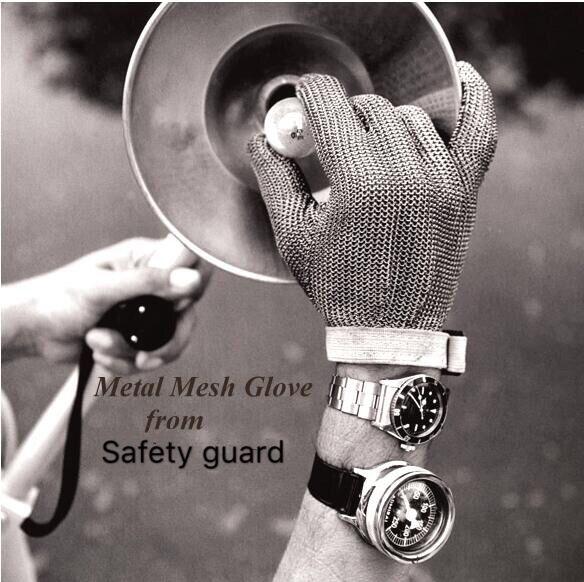 Сетчатые перчатки для кухонных рабочих сетка металлические непрорезаемые перчатки защита от порезов