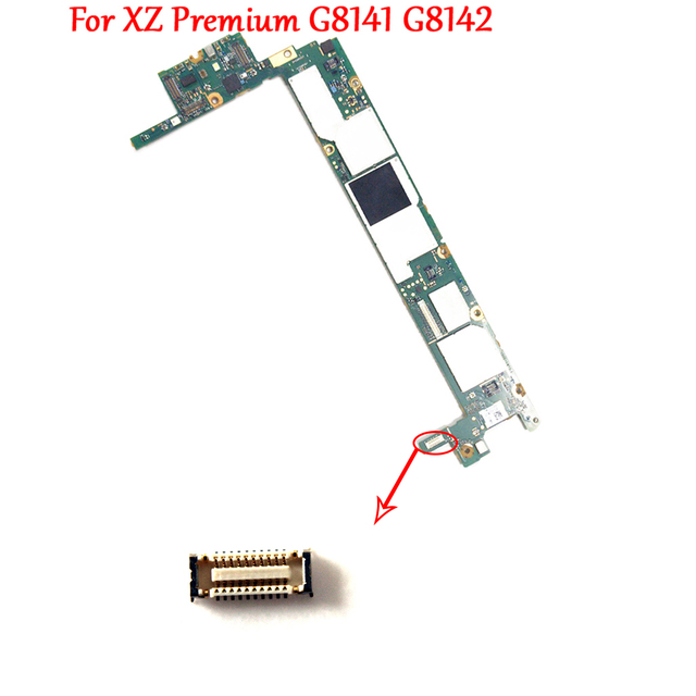 On Motherboard Charger Port Charging Dock Flex Cable FPC Connector Plug For Sony Xperia XZ Premium G8142 G8141 XZP