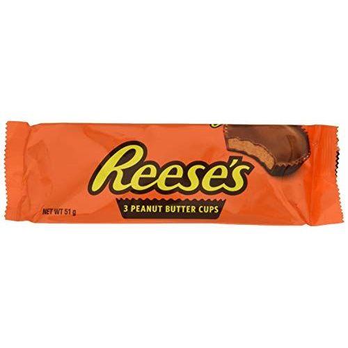 HERSHEY'S Reeses 3 Peanut Butter Cups 51 G Lot De 2