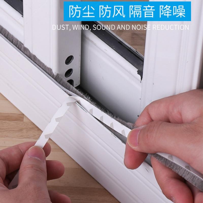 1/3/5meters Brush Strip Self Adhesive Sealing Strip Door Window Home Door Window Sound Insulation Wind-proof Strip Gasket Good Taste