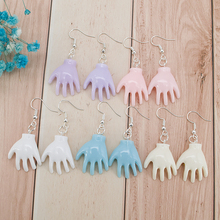 Фото - 1pair Angel Palm Halloween Creepy Earrings For Women Punk Resin  Hand Drop Earrings Party Jewelry wight angel halloween