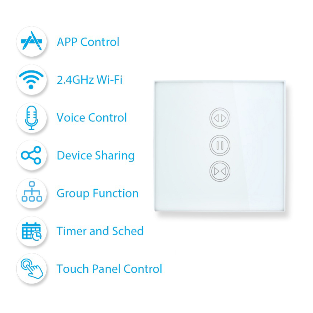 SmartLife WiFi Curtain Switch For Electric Motorized Curtain Blind Roller Shutter  Amazon Alexa Echo Google Home Voice Control