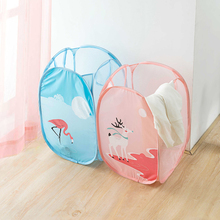 Folding Mesh Dirty Clothes Washing Basket Children's Toys Sundries Storage Laundry Basket Household Portable Toy Container