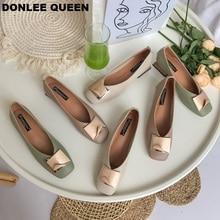 New Fashion Metal Buckle Shoes Women Slip On Ballet Flats Casual Shoes Female Flat Ballerina Low Heel Soft Shoe zapatos de mujer стоимость