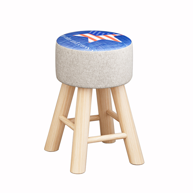 Small Stool Household Simple Modern Solid Wood Low Stool Sofa Stool Fashion Creative Bench Make-up Stool Living Room Change Shoe