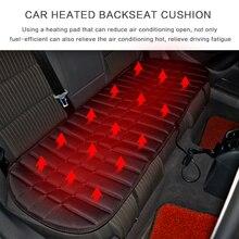 Inverno ajustável traseiro de volta aquecida aquecimento almofada do assento cobertura 12v 42w dobrável carro aquecedor automóvel acessórios automotivos