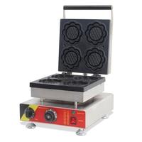 Paslanmaz çelik ticari ayçiçeği şekli waffle makinesi elektrikli waffle makinesi NP-508 yapışmaz waffle yapma makinesi 220 v/110 v