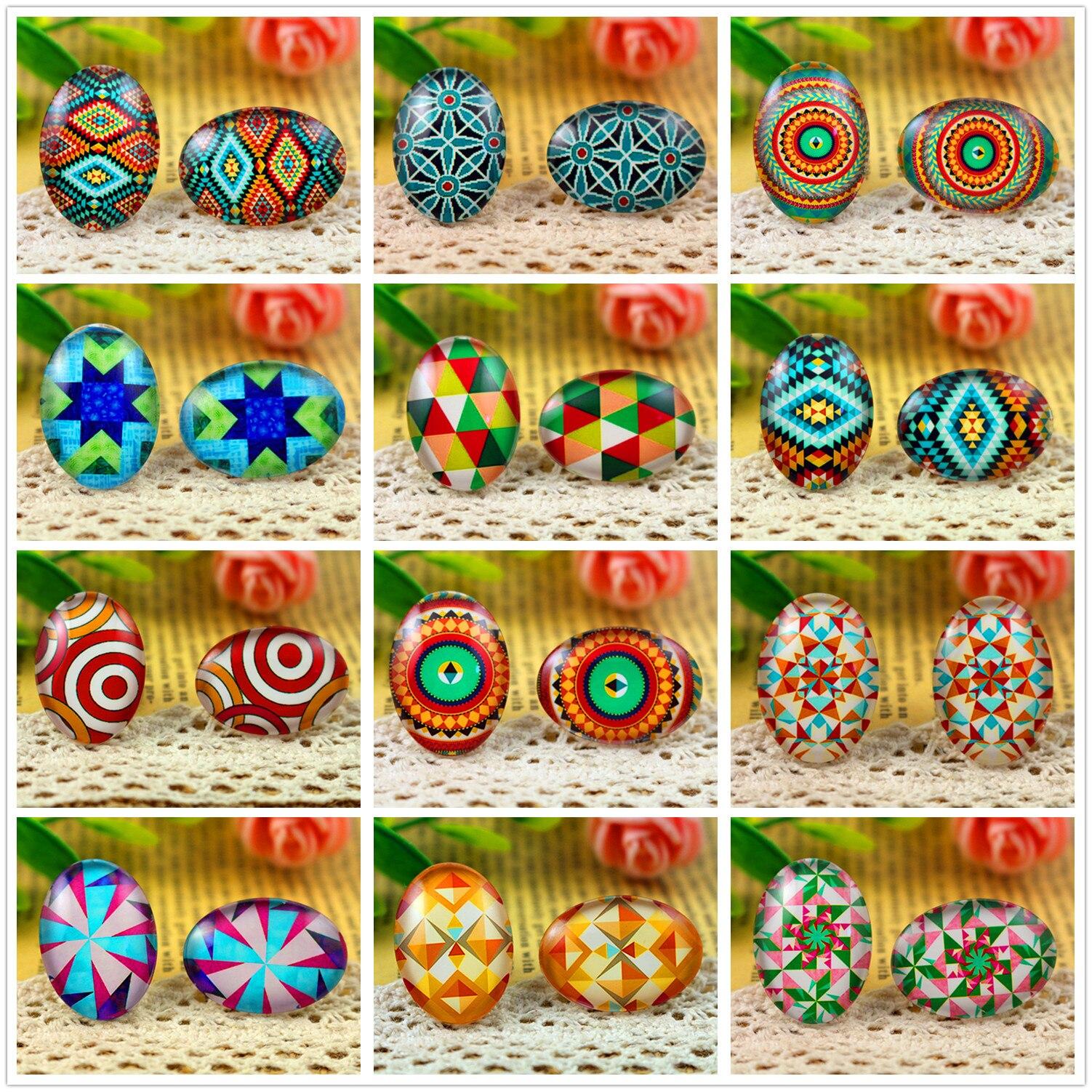 2020 Hot Sale 10pcs 18x25mm Handmade Photo Glass Cabochons