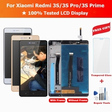 For Xiaomi Redmi 3S LCD Display + Frame Touch Screen Panel LCD Display Redmi 3S Pro Prime Digitizer Assembly Replacement Parts