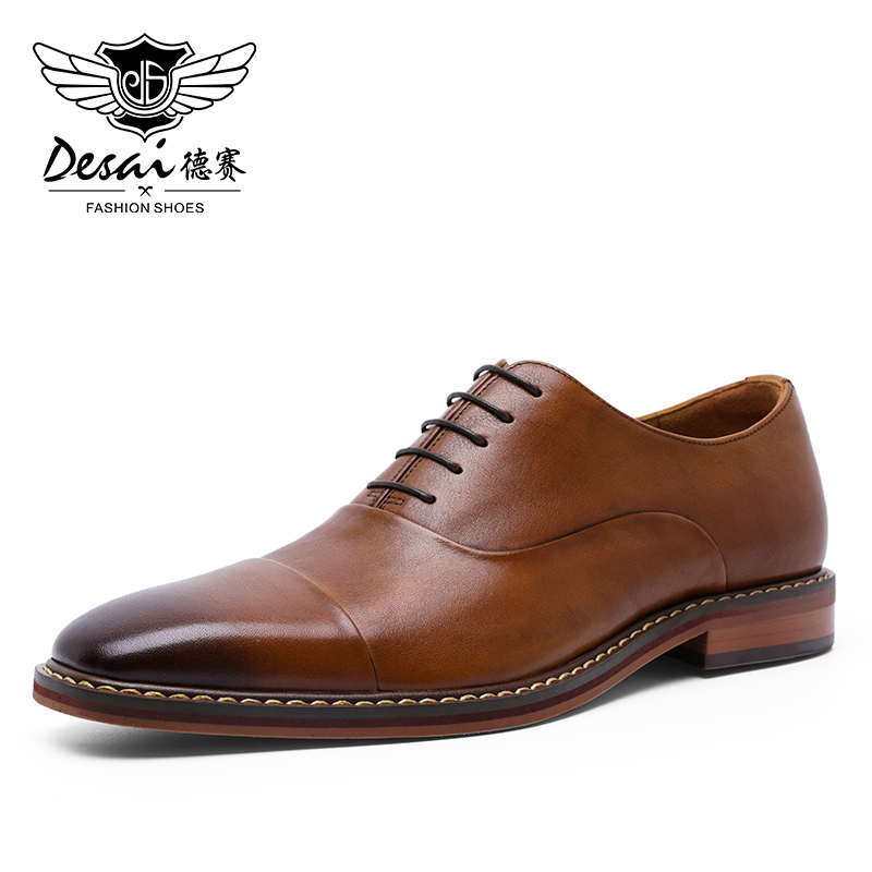 DESAI Brand Handmade Design Mens Casual Oxford Shoes Formal Luxury Party Wedding Real Genuine Leather Shoes Men Manufacturers