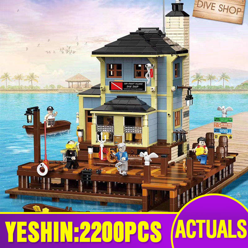 Creative Bricks Toys Hous Building-Blocks Boat Fishing-Lighthouse Diner Christmas-Gifts