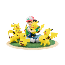 TAKARA TOMY Toy for Kids Pokemon Monster  Ash Ketchum Pikachu Collectible Action Figure Pocket Monsters Dolls 15cm