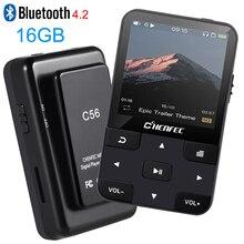 Yeni klip MP3 oynatıcı Bluetooth4.0 HIFI müzik çalar 16GB pedometre FM radyo kaydedici destek TF kart + ücretsiz kol bandı