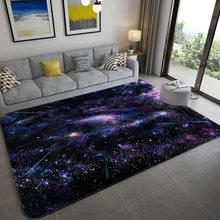 Galáxia espaço estrelas padrão tapetes para sala de estar quarto área tapete crianças tapete do jogo macio flanela 3d impresso casa grande tapete