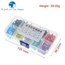 Assortiment de boîtes à fusibles en plastique de taille moyenne, 100 pièces/lot, pour voiture, Standard, lame, 2A, 3A, 5A, 7.5A, 10A, 15A, 20A, 25A, 30A, 35A
