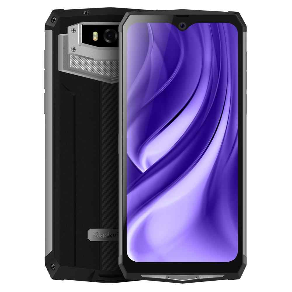 "Blackview BV9100 IP68 4GB + 64 smartphones À Prova D' Água 6.3 GB ""16MP MT6765V Octa Core 2.3GHz Android 9.0 NFC 13000mAh 30W Carga Rápida"
