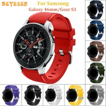 цена 22mm Sport Silicone watches straps For Samsung Galaxy 46mm watch band Replacement wristband For Huami AMAZFIT 2/2s Bracelet онлайн в 2017 году