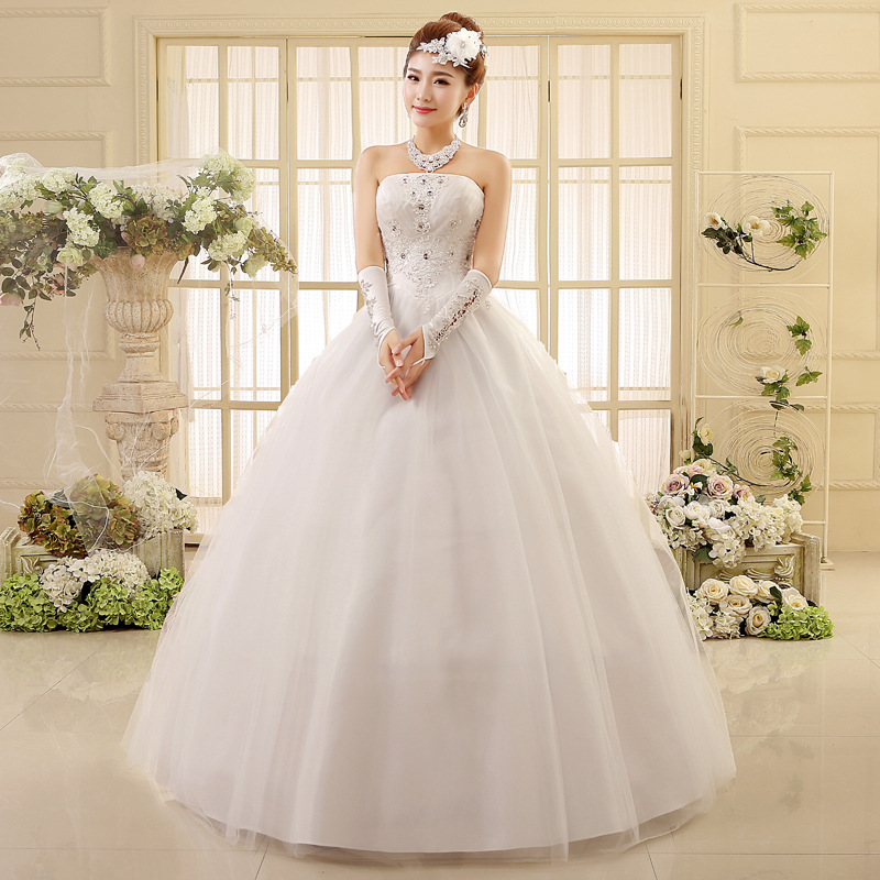 New Korean Version Stock Wedding Dresses Vestidos De Novia Sweetheart Wedding Dress Married Large Size Bride Lace Wedding Dress