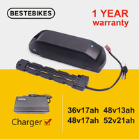 Electric bike battery pack 18650 cell 13ah 17.5ah 21ah 24.5ah BMS 20A 30A 40A downtub li ion battery bafang BBS01B BBS02B BBSHD