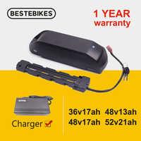 Bateria de ebike 48 v bateria 52 v bateria 36v bateria para baixo tubo bateria 18650 célula para bafang motor 250w 350w 500w 750w 1000w w w