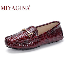 100% echtes Leder Frauen Schuhe Frühling Herbst Mode Leder Frauen Müßiggänger Wohnungen Hohe Qualität Leder Casual Schuhe Frauen