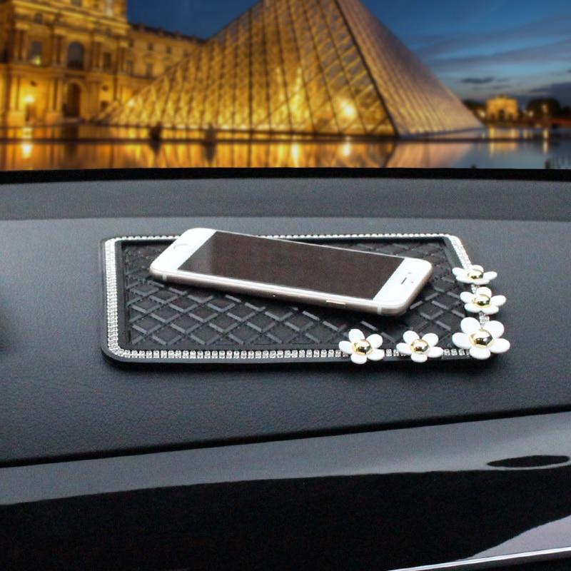 Daisy-flower-Anti-Slip-Mat-Crystal-Rhinestone-Automobile-Silicone-Non-Slip-Mat-Pad-Car-Sticky-for-GPS-Phone-Car-5