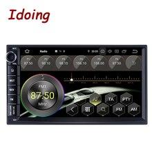 """Idoing 7 """"Octa çekirdekli 2 din evrensel araba Android 9.0 radyo multimedya oynatıcı PX5 4G + 64G GPS navigasyon IPS ekran TDA 7850"""
