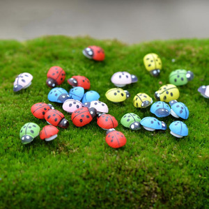 100 Pcs/set Cute Insect Ladybug Mini Beetle Miniature Animal Figurine Anime Action Figure Toy for Home Garden Decor DIY Toy Gift