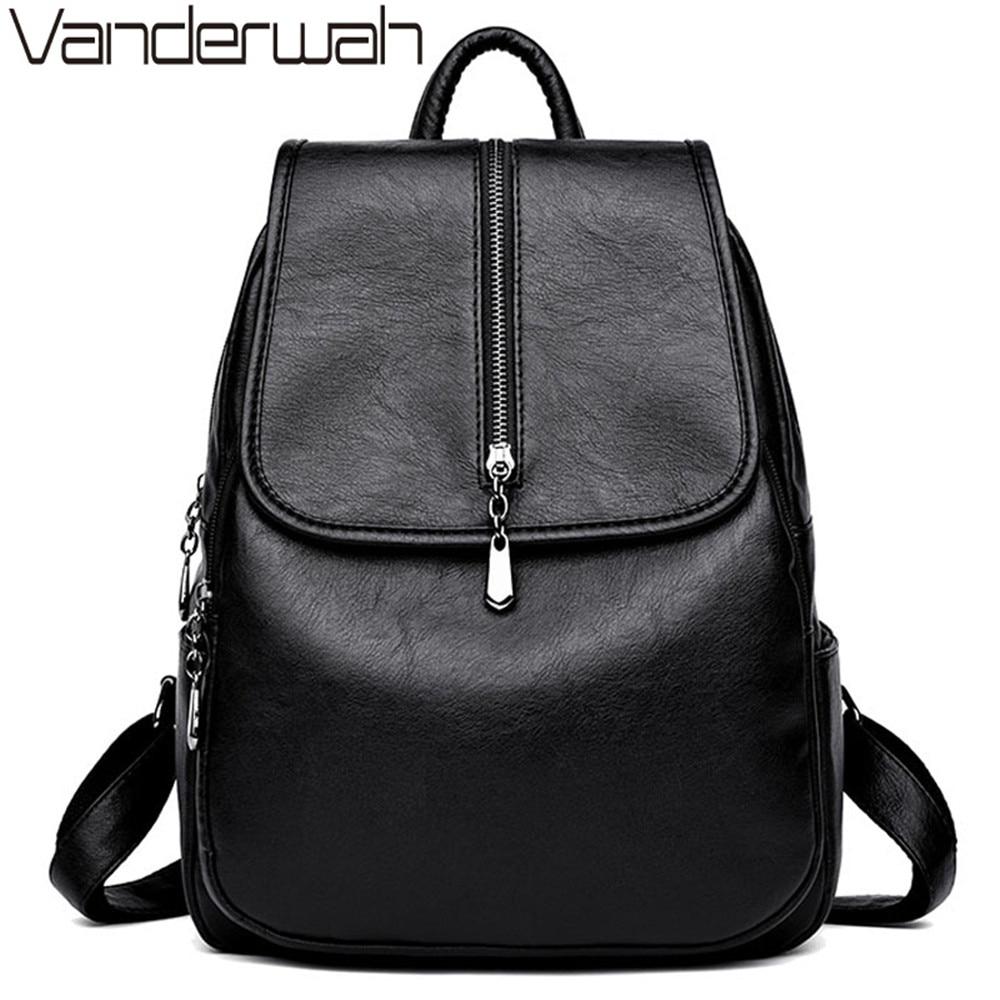 High Quality Women Bag College Wind School Bag Backpack Girl Mochila Women Backpacks Leather Female Travel Shoulder Bag Backpack