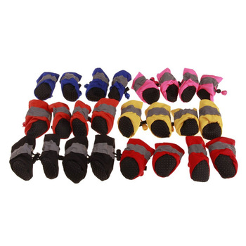 4pcs Antiskid Puppy Shoes Soft-soled Pet Dog Shoes Waterproof Small Dog Prewalkers Soft Pet Products Supplies Pet Paw Care New 4