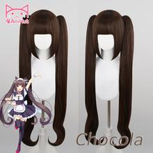 【Anihut】chocola Nekopara Cosplay Pruik Chocolade Hittebestendige Synthetische Haar Chocola Cosplay Haar